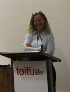 Professor Lisa Matisoo-Smith at Toitu Settlers Museum, photo from the Centre for Research on Colonial Culture webiste.
